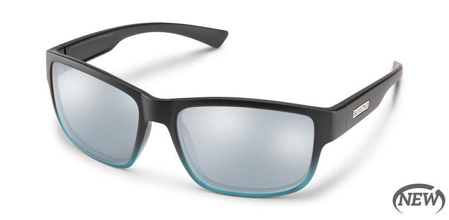 Suncloud Suncloud Suspect (new) Sunglasses- Matte Black Green Fade/ Polar Silver Mirror