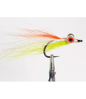 Fulling Mill Mega Clouser Chartreuse/Orange size 4/0
