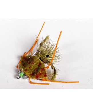 Catch Flies Palometa Crab Olive size 4
