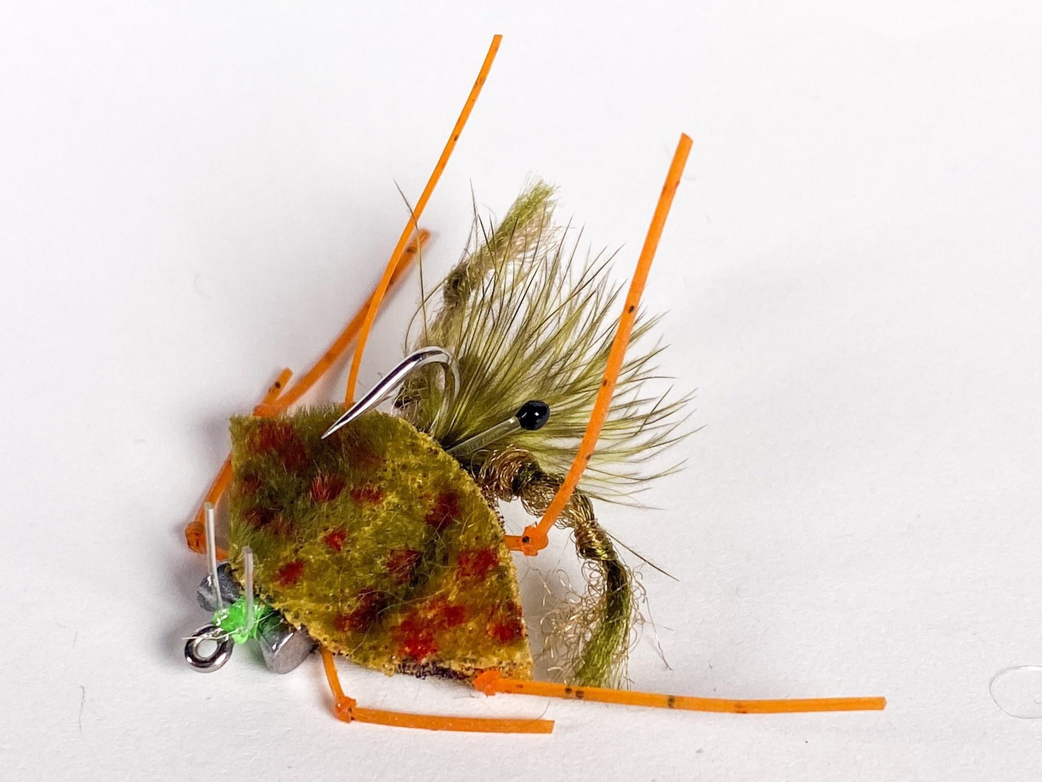 Catch Flies Palometa Crab Olive size 4