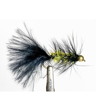 Solitude Flies Beadhead Crystal Body Bugger Black/Olive size 8
