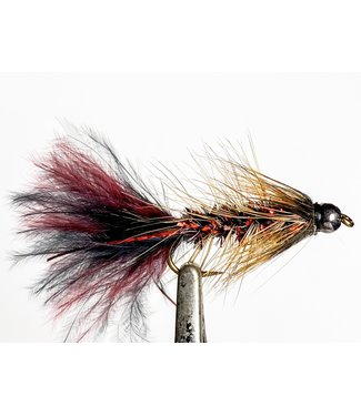 Solitude Flies Beadhead Pop's Bugger size 8