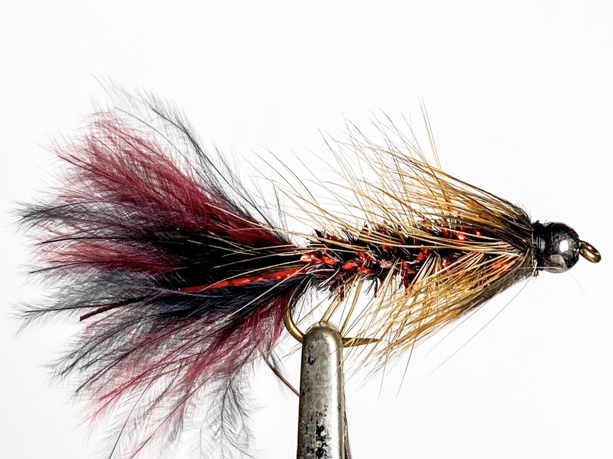 Solitude Flies Beadhead Pop's Bugger size 8
