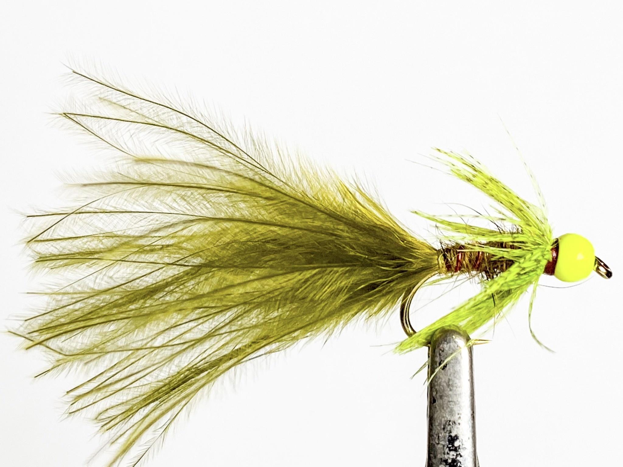Fulling Mill Hot Head Damsel Chartreuse Bead size 10