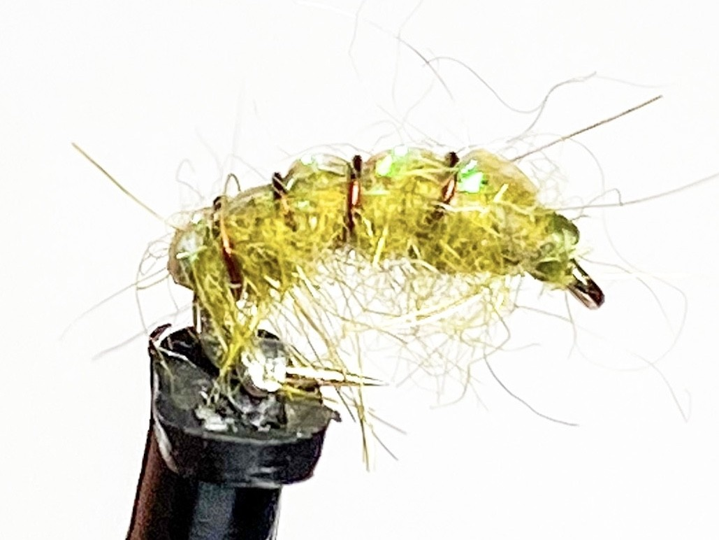Catch Flies Crystal Back Olive Scud size 18