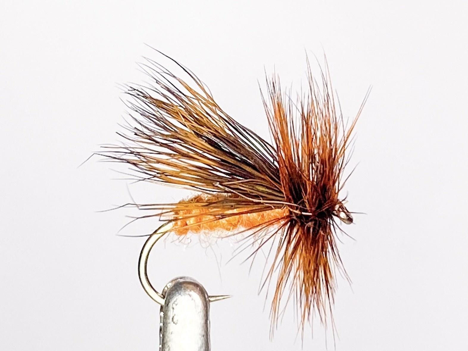 Hareline Dubbin October Caddis size 10
