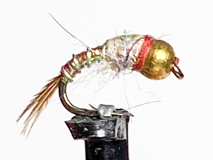 Catch Flies Beadhead Rainbow Warrior size 18