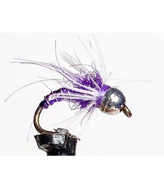 Solitude Flies Tungsten Hackled Dazzler Purple size 16