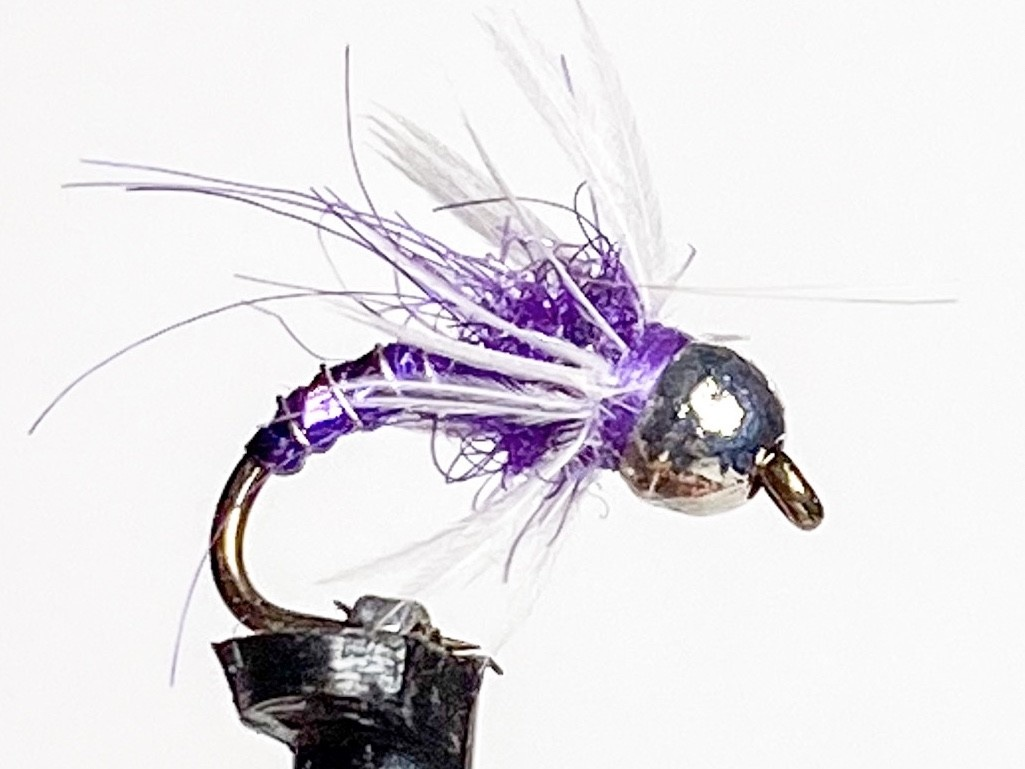 Fulling Mill Tungsten Hackled Dazzler Purple size 16