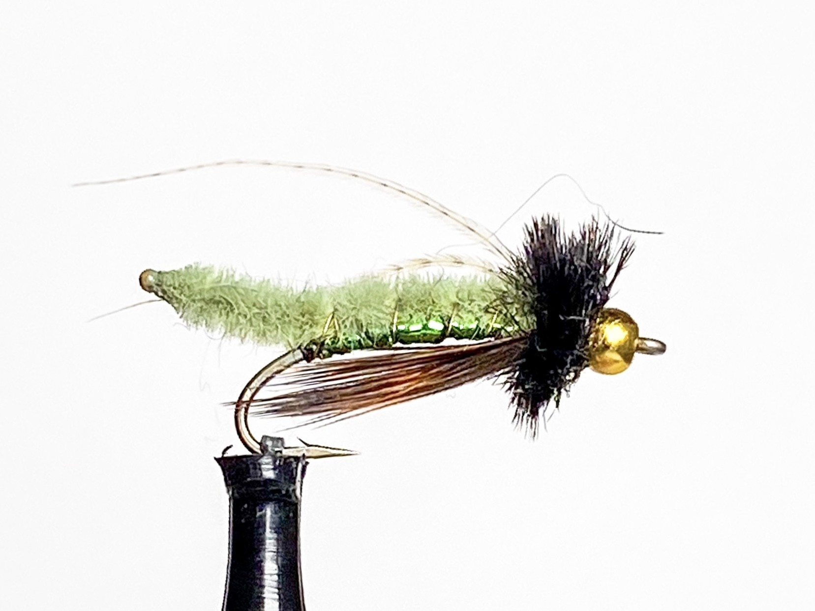 Catch Flies Beadhead Caddis Poopah size 14 Olive