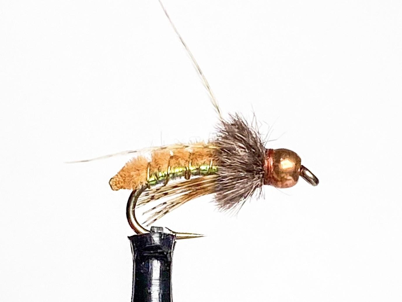 Catch Flies Beadhead Caddis Poopah size 14 Brown