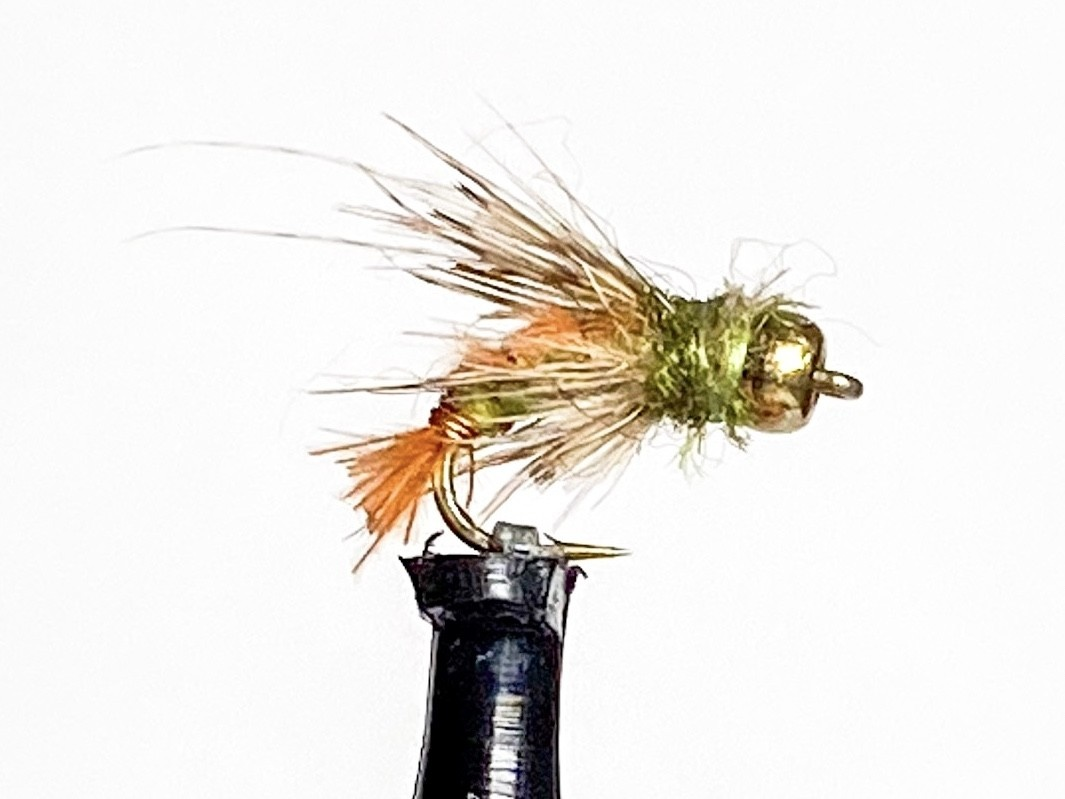 Solitude Flies Beadhead Ascending Caddis size 16