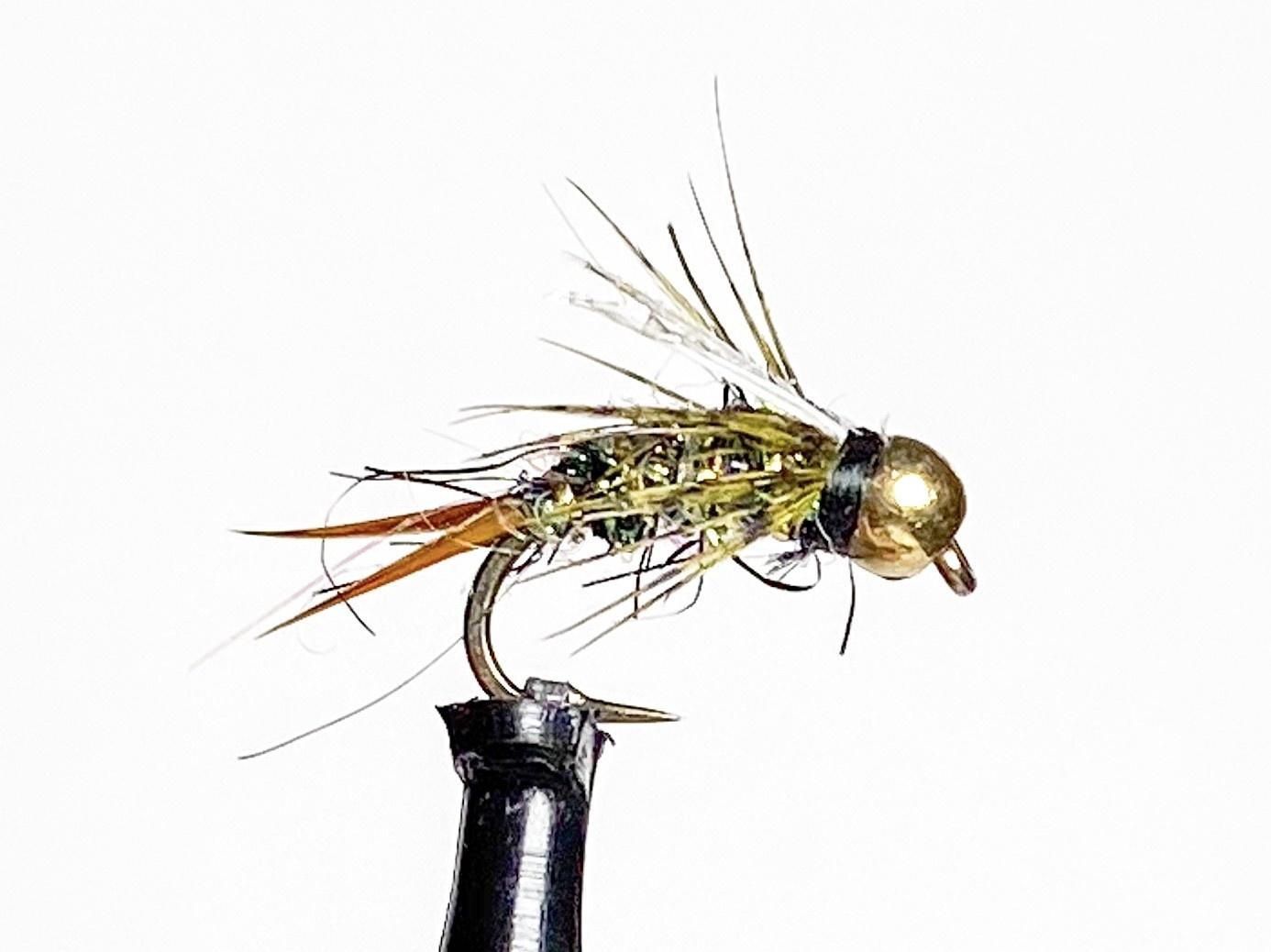 Solitude Flies Beadhead Flash Prince Olive size 14