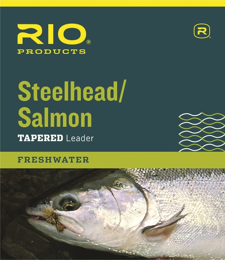 Rio Products Rio Salmon/Steelhead Glacial Green Leader 3-Pack, 9ft 10lb