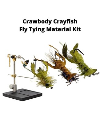 Gig Harbor Fly Shop Crawbody Crayfish Brown & Olive Fly Tying Material Kit