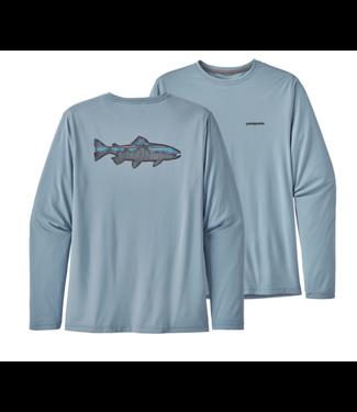 Patagonia Patagonia M's L/S Cap Cool Daily Fish Graphic Shirt
