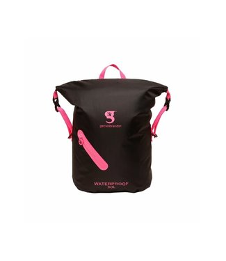 geckobrands geckobrands Waterproof Lightweight Backpack Black/Neon Pink
