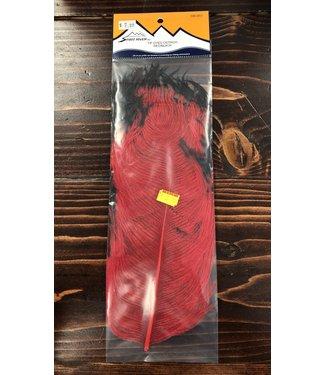 Spirit River Tip Dyed Ostrich, Red/Black