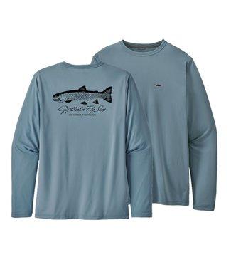 Patagonia Patagonia M's L/S Cap Daily T-Shirt - Sea-Run Cutthroat Logo