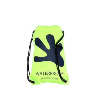 geckobrands geckobrands Waterproof Drawstring Backpack Neon Green/Navy