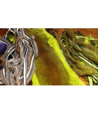 Hareline Dubbin Complete Micro Stripped Pine Squirrel Hide