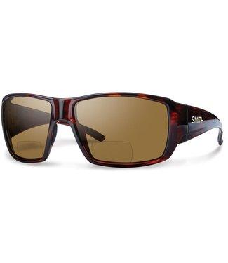 Smith Guide's Choice Matte Havana Ready To Wear Bifocal Polarized Brown +2.50
