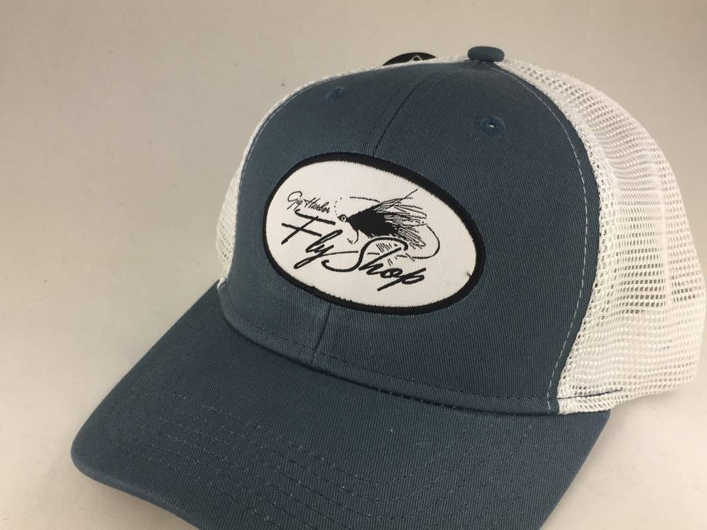 Gig Harbor Fly Shop GHFS Logo Vintage Mesh Hat,