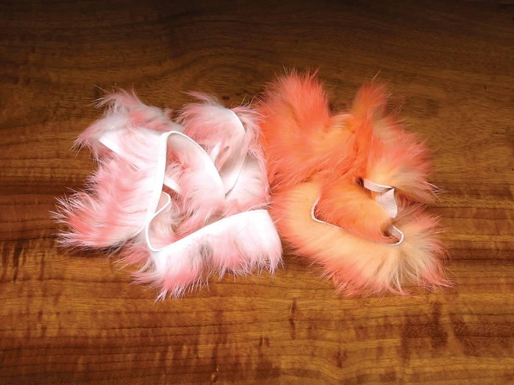 Hareline Dubbin Two Tone Crosscut Two Tone Crosscut Flesh Rabbit Strips,