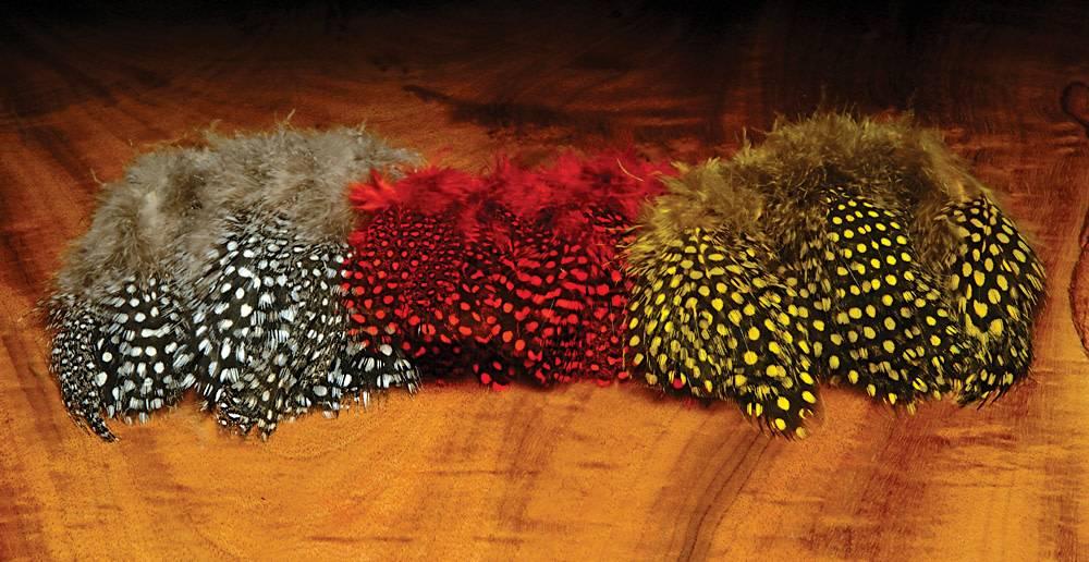 Hareline Dubbin Strung Guinea Feathers,