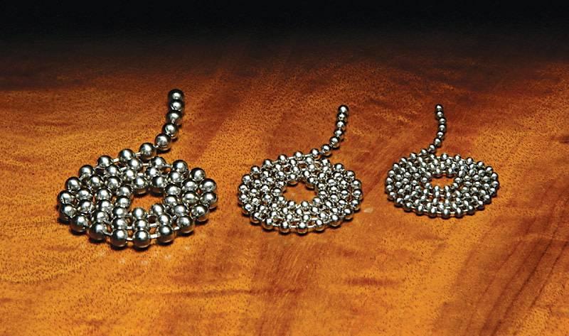 Hareline Dubbin Stainless Steel Bead Chain,