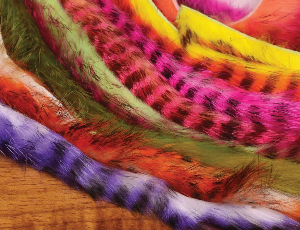 Hareline Dubbin Tiger Barred Rabbit Strips,