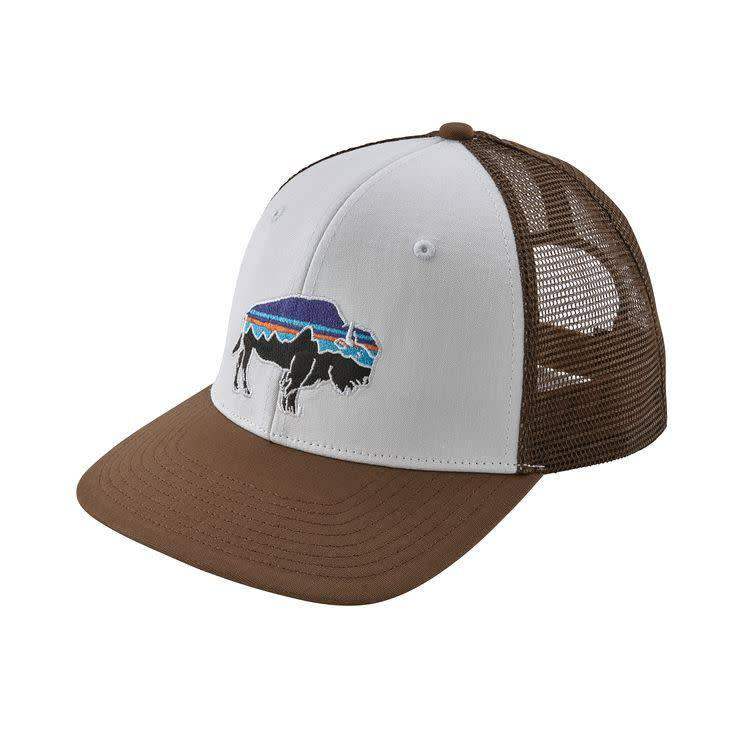 Patagonia Patagonia Fitz Roy Bison Trucker Hat White w/Timber Brown ALL
