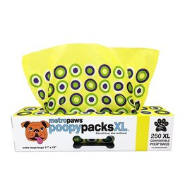 Metro Paws Poopy Packs Yellow Circles XL 250 Compostable Poop Bags