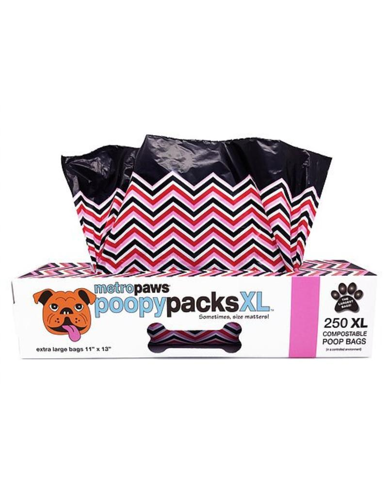 Metro Paws Poopy Packs Pink Chevron XL 250 Compostable Poop Bags