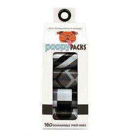 Metro Paws Poopy Packs Black Multi 8 pack 160 ct Degradable Poop Bags