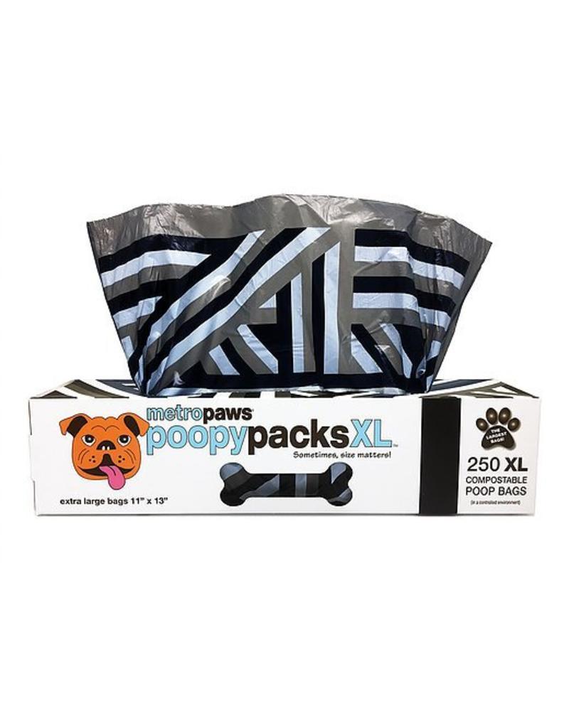 Metro Paws Poopy Packs Black Lines XL 250 Compostable Poop Bags