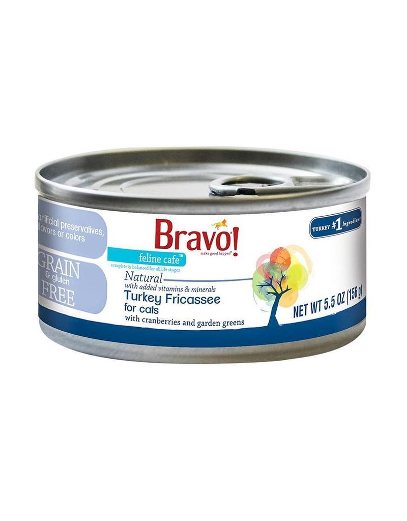 Bravo Bravo Canned Cat Turkey Fricassee 5.5 oz single