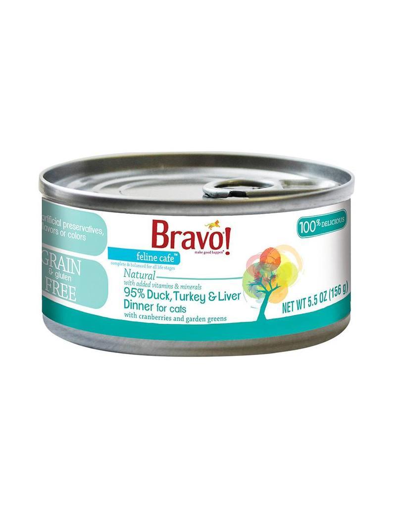 Bravo Bravo Canned Cat 95% Duck, Turkey & Liver 5.5 oz single