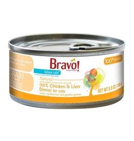 Bravo Bravo Canned Cat 95% Chicken & Liver 5.5 oz single