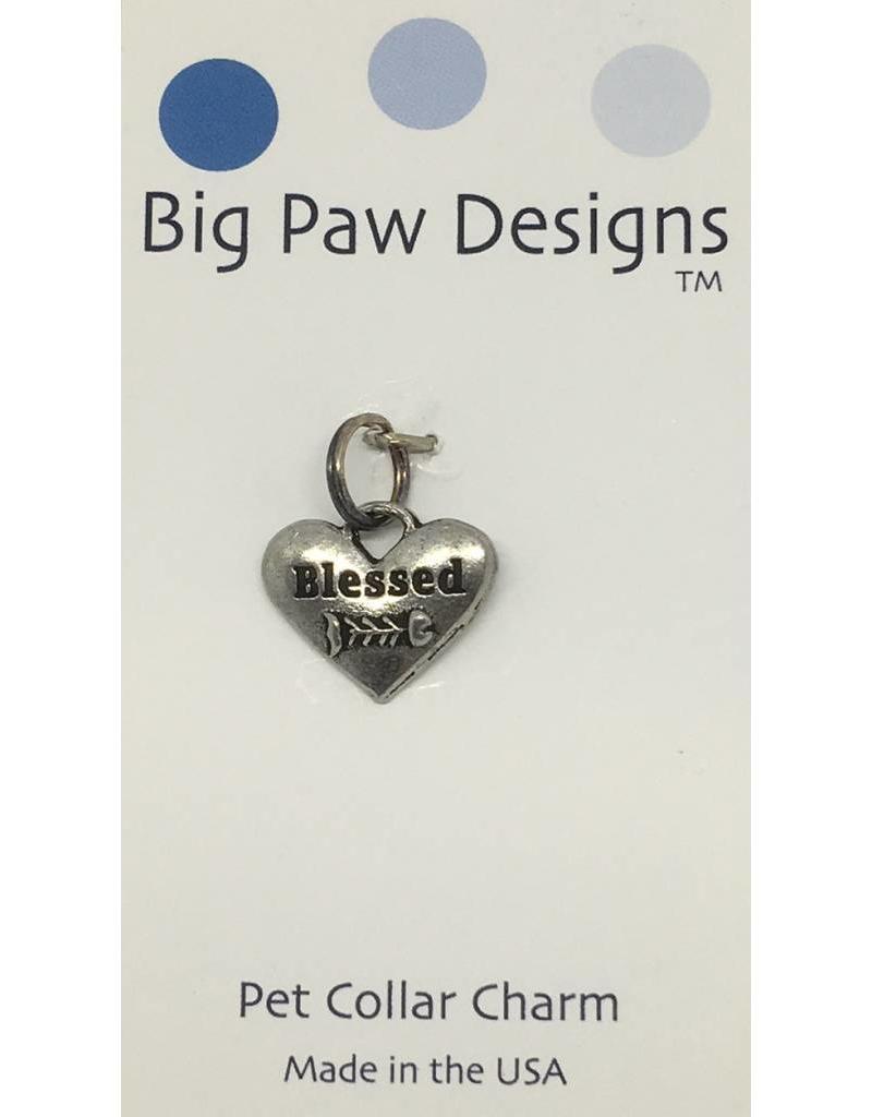 Big Paw Designs Dog Tags  Blessed Cat Fish Bone