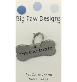 Big Paw Designs Dog Tags  The Cat Did It