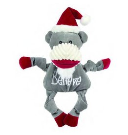 HuggleHounds Huggle Hounds Christmas 2018 Toys Believe Sock Monkey Knottie Large