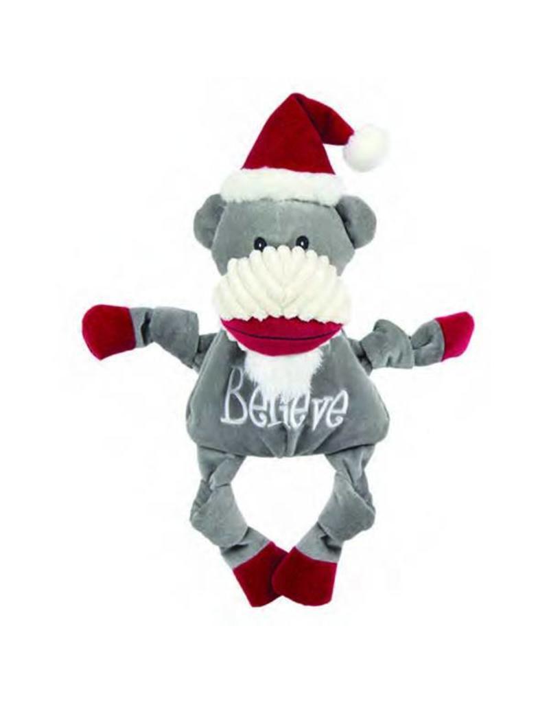 HuggleHounds Huggle Hounds Christmas 2018 Toys Believe Sock Monkey Knottie Small