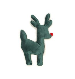 West Paw West Paw Holiday Ruff-N-Tuff Reindeer Green