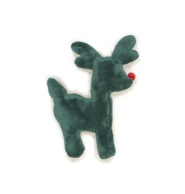 West Paw West Paw Holiday Tiny Tuff Reindeer  Green