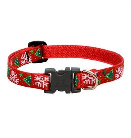 Lupine HOLIDAY Christmas Cheer 8-12in Dog Collar
