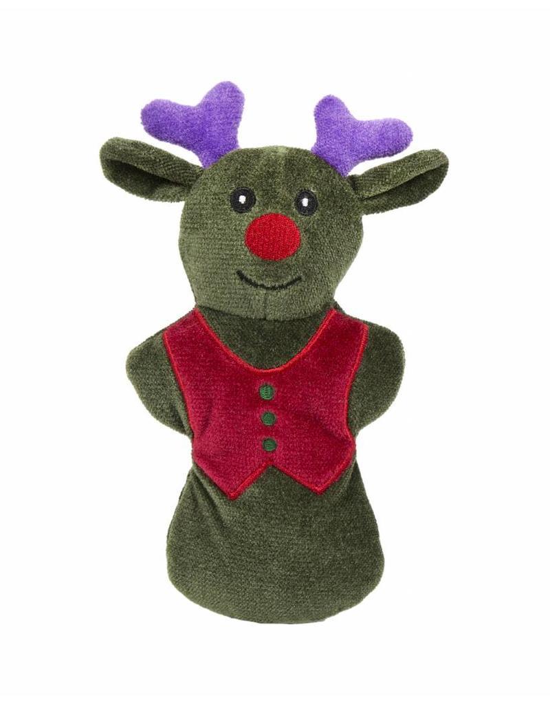 HuggleHounds Huggle Hounds Christmas Plush Corduroy Durable Cookie 2018 Reindeer