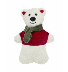 HuggleHounds Huggle Hounds Christmas Plush Corduroy Durable Cookie 2018 Polar Bear