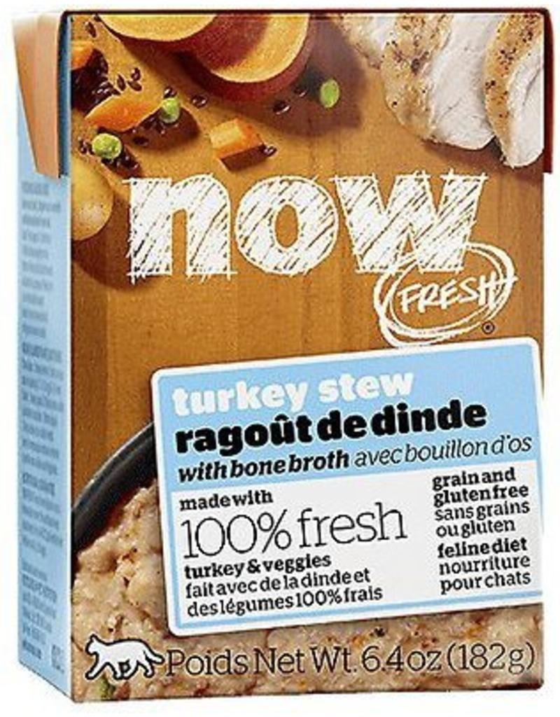 Petcurean NOW Cat Grain-Free Stew Turkey 6.4 oz single