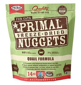 Primal Primal Freeze-Dried Cat Nuggets Quail 14 oz
